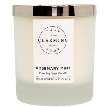 Rosemary Mint Deluxe Candle - Rosemary Mint Candle - That Charming Shop