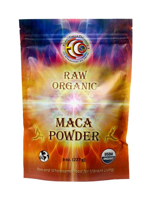 Earth Circle Organics Maca Powder - Organic - Raw - Yellow - 8 Oz