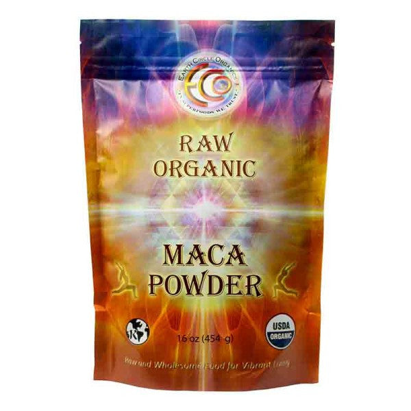Earth Circle Organics Maca Powder - Organic - Raw - Yellow - 16 Oz