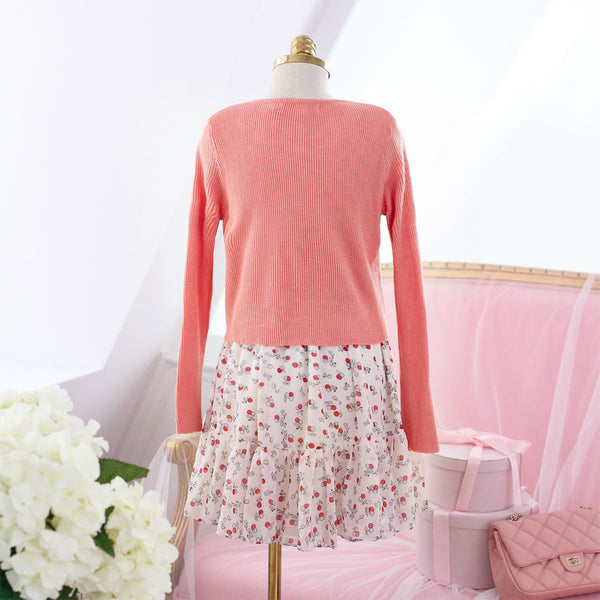 air-conditioned with Bow knit top - AddOneClothing - 10