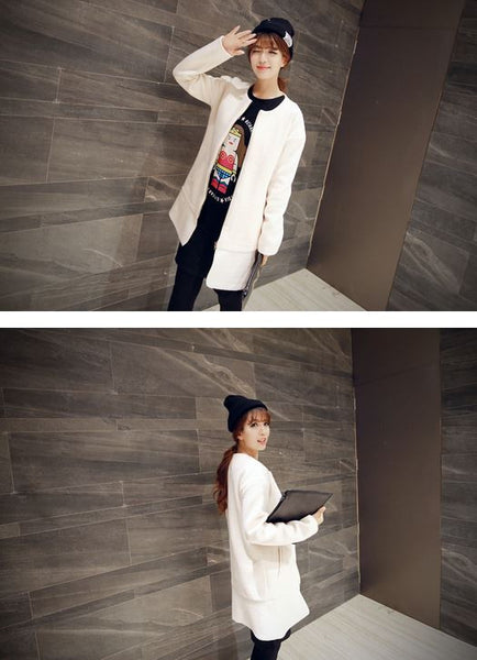 Korean Style - long woolen coat - AddOneClothing - 7