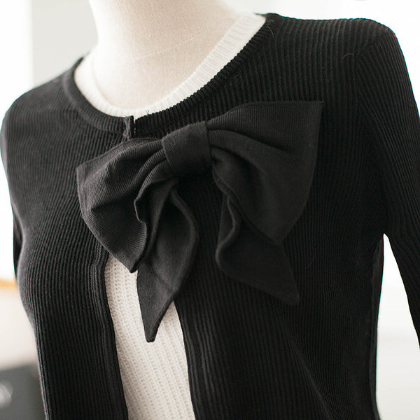 air-conditioned with Bow knit top - AddOneClothing - 13