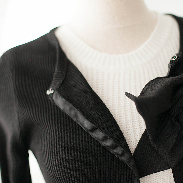 air-conditioned with Bow knit top - AddOneClothing - 14
