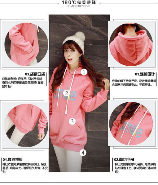 Korean Fashion - Smile face warm hoody with hat - AddOneClothing - 8