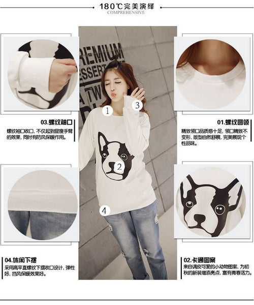 Korean Style - Dog face printing warm hoody - AddOneClothing - 4