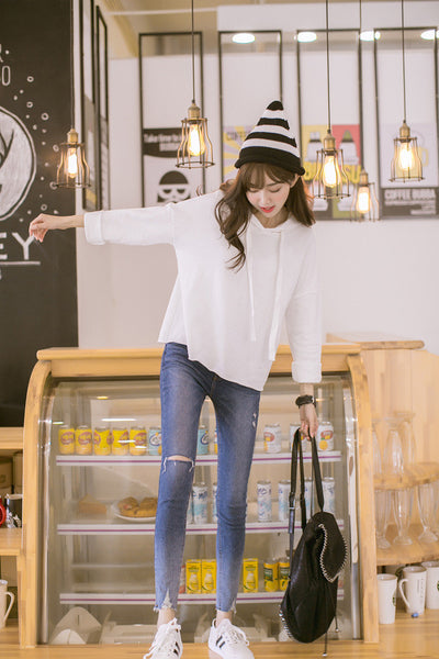 Korean Fashion - Single color hoodie - AddOneClothing - 2