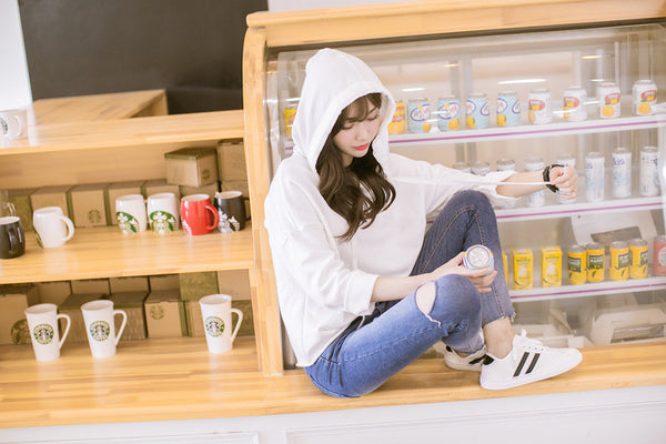 Korean Fashion - Single color hoodie - AddOneClothing - 3