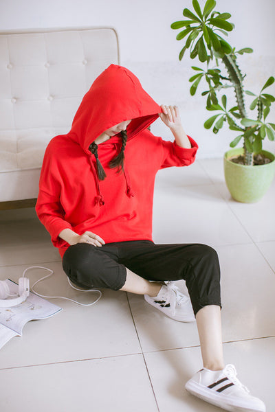 Korean Fashion - Single color hoodie - AddOneClothing - 6