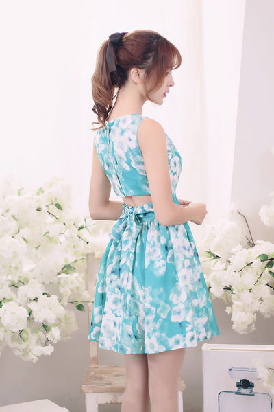 Korean fashion(&Japanese) - Flower printed sleeveless dress - AddOneClothing