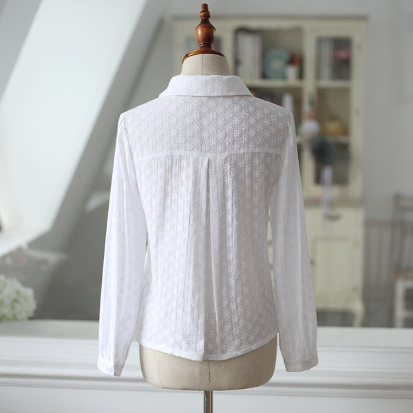 Autumn lace shirt - AddOneClothing - 15