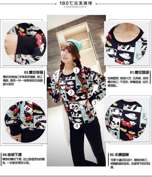 Korean Style - Mickey photos hoody - AddOneClothing - 3