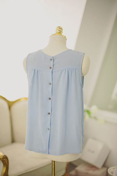 Korean fashion sweet bow spell color round neck chiffon shirt - AddOneClothing - 10