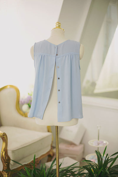 Korean fashion sweet bow spell color round neck chiffon shirt - AddOneClothing - 9