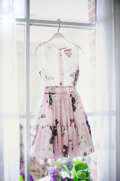 Japanese fashion cherry fruit printed pleated bow sling dress - AddOneClothing - 11