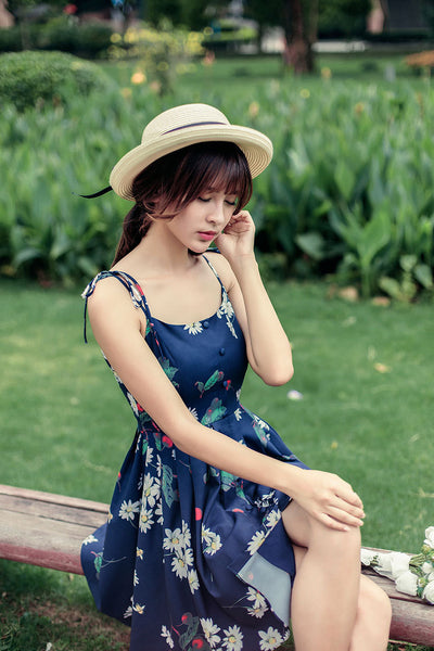 Japanese fashion cherry fruit printed dress - AddOneClothing - 6