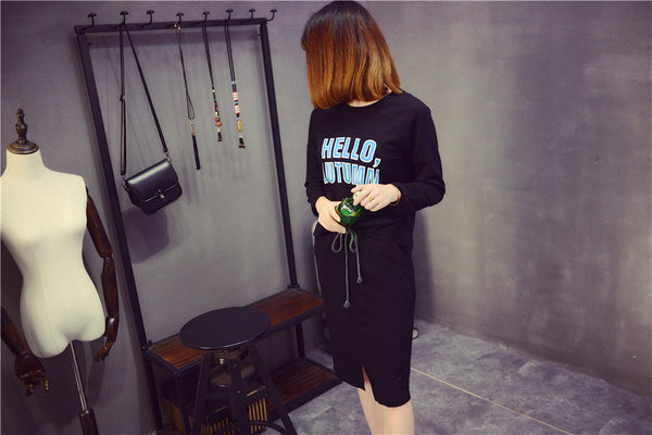 Street Fashion round neck long-sleeved T-shirt suit - AddOneClothing - 5