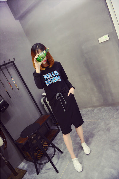 Street Fashion round neck long-sleeved T-shirt suit - AddOneClothing - 2