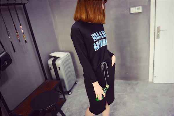 Street Fashion round neck long-sleeved T-shirt suit - AddOneClothing - 4