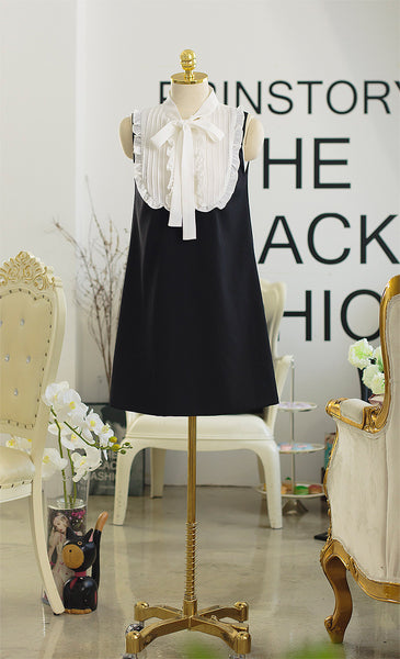 Korean fashion(&Japanese) small collar lace vest skirt - AddOneClothing