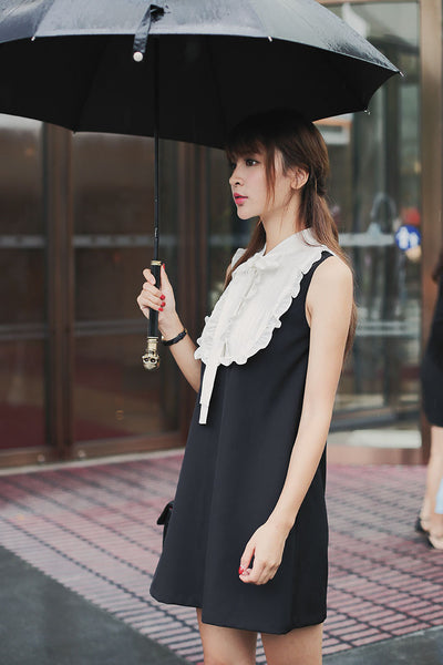 Japanese fashion small collar lace vest skirt - AddOneClothing - 4