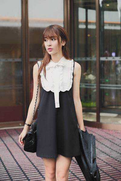Japanese fashion small collar lace vest skirt - AddOneClothing - 6