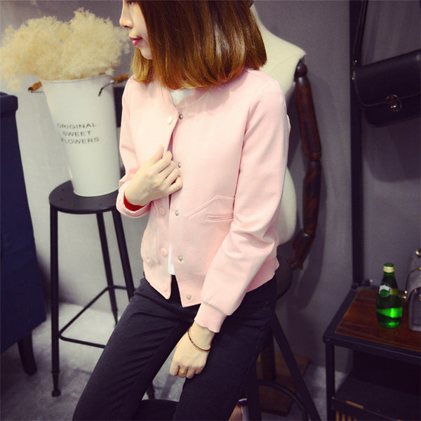 Street fashion short paragraph long-sleeved baseball jacket - AddOneClothing - 10