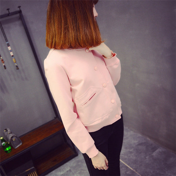 Street fashion short paragraph long-sleeved baseball jacket - AddOneClothing - 15