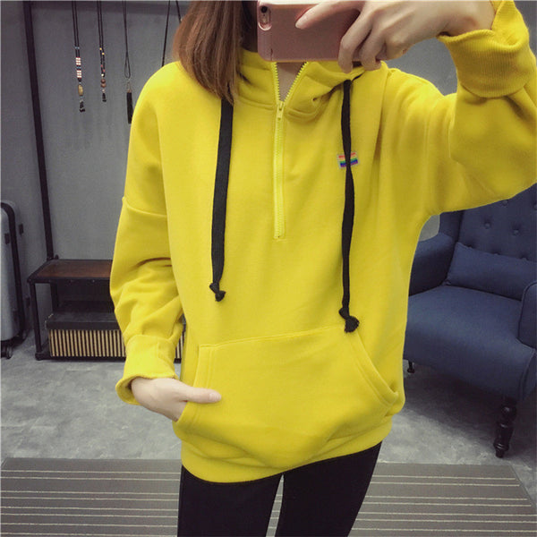 Street fashion collar zipper imprint chest standard hoody - AddOneClothing - 1