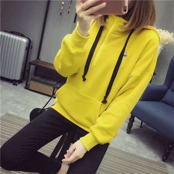 Street fashion collar zipper imprint chest standard hoody - AddOneClothing - 9