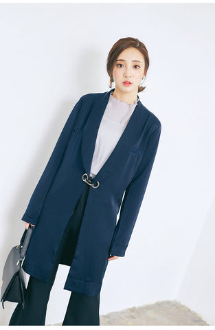 Korean fashion buckle jacket - AddOneClothing