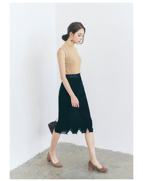 Korean fashion knitting high waist skirt - AddOneClothing - 4