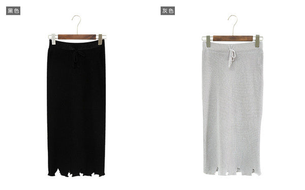 Korean fashion knitting high waist skirt - AddOneClothing - 14