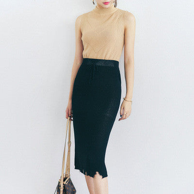 Korean fashion knitting high waist skirt - AddOneClothing - 1