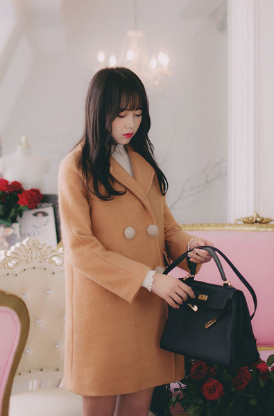 Korean Fashion - Brown cute warm outwear - AddOneClothing