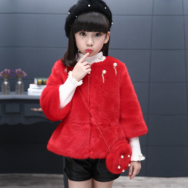 Children's fashionable winter fur coat velvet Korean version - AddOneClothing