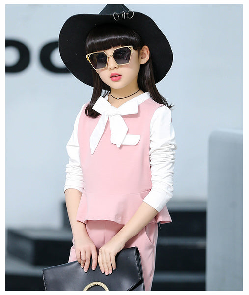 Korean fashion kids trousers suit - AddOneClothing