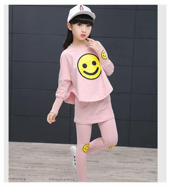 Korean fashion kids sports long-sleeved sets - AddOneClothing