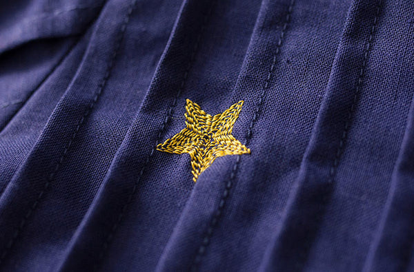 Korean fashion(&Japanese) embroidered Five-pointed star shirt
