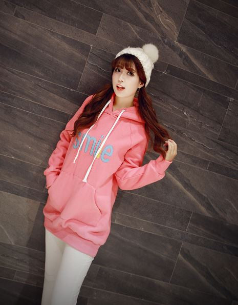 Korean Fashion - Smile face warm hoody with hat - AddOneClothing - 5