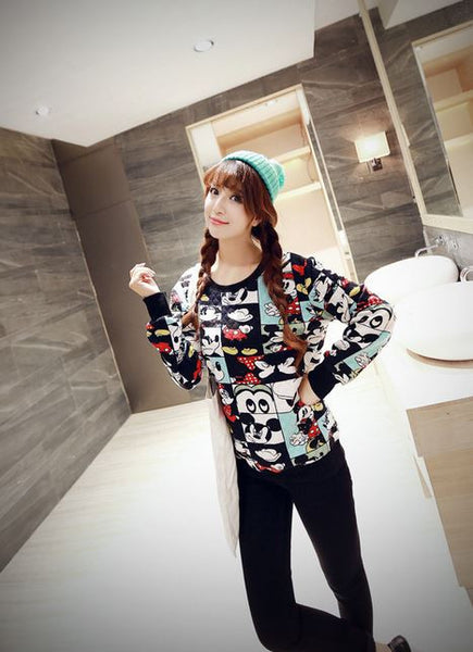 Korean Style - Mickey photos hoody - AddOneClothing - 1
