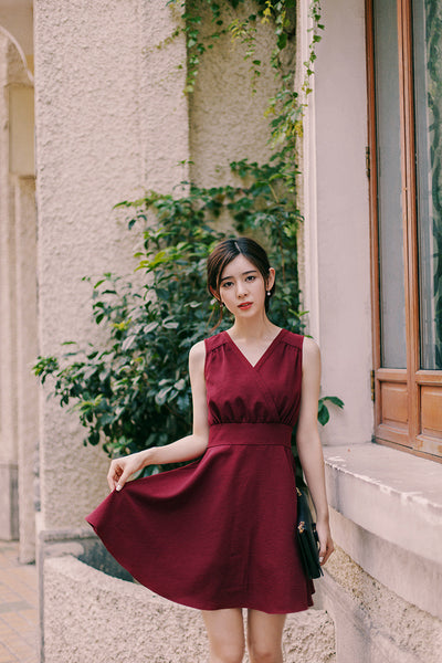 Korean fashion(&Japanese) V collar Self-cultivation A word Vest dress - AddOneClothing