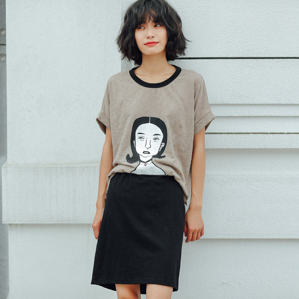 Street Fashion Short Sleeve T-Shirt Bunny with Pants