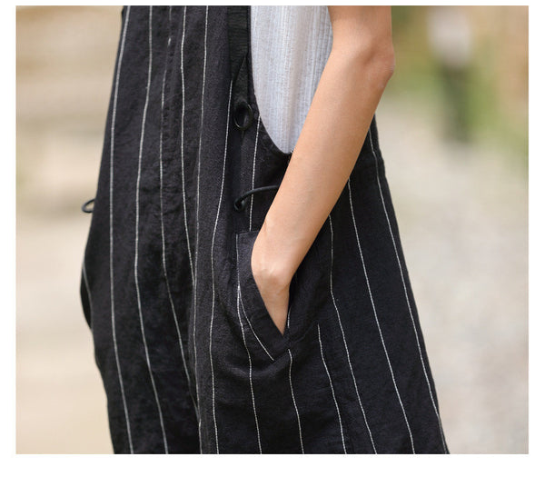 Street Fashion Drawstring Striped Tie Pants