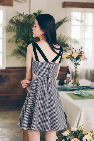 Korean fashion(&Japanese) V collar Hollow Open waist Cotton A word dress - AddOneClothing