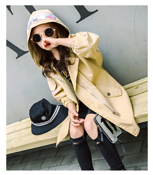 Korean fashion kids hooded coat - AddOneClothing