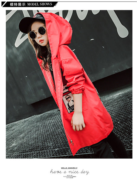 Korean fashion child hooded coat - AddOneClothing