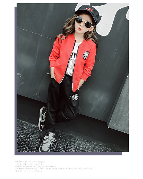 Korean fashion kids spring and autumn long sleeve suit - AddOneClothing