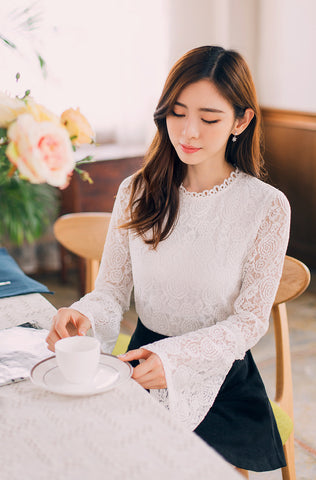 Korean fashion -- Lace Shirt - AddOneClothing