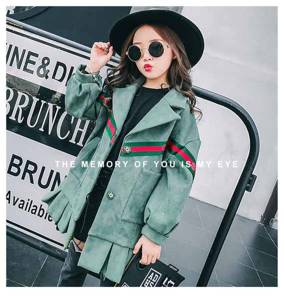 Children's fashion winter thick suede cotton coat - AddOneClothing