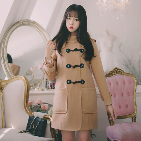 Korean Fashion -  Brown loose woolen coat - AddOneClothing